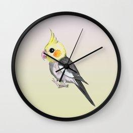 Very cute cockatiel Wall Clock