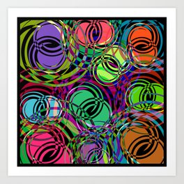 Background of spirals and circles. Calm color schemes for the design of a background or banner from Art Print