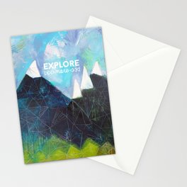 Matterhorn Cirque Mountain Peaks Stationery Cards