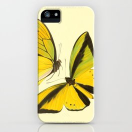 Lepidoptera Butterfly Pattern WFK Cottagecore Lithograph Print iPhone Case