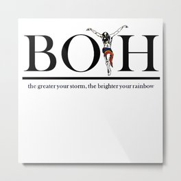 The Greater Your Storm The Brighter Your Rainbow Metal Print