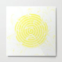 Smooth yellow abstraction Metal Print