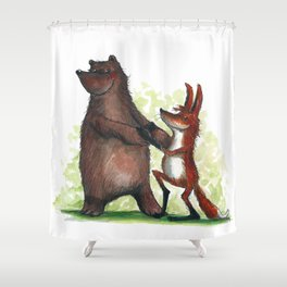 Bear & Fox Shower Curtain