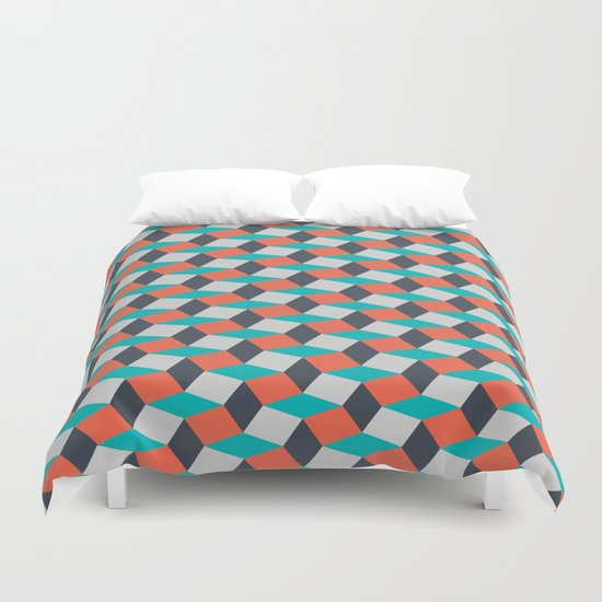 Four Colors Duvet Cover