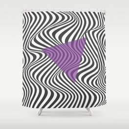Wavy Lines Shower Curtain