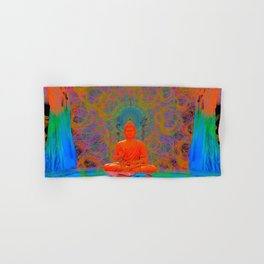 Cool Water Zen (Ultraviolet) (psychedelic, meditation) Hand & Bath Towel
