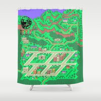 earthbound Shower Curtains featuring Earthbound by Fred Vilair