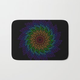 Pinwheel Rainbow- Meditation Painting Bath Mat