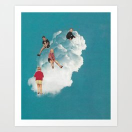 Cloud Playground Art Print