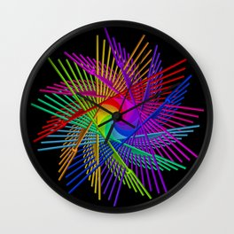 colors on black -2- Wall Clock