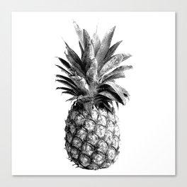 Pineapple Engraving Canvas Print