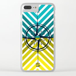 Compass rose Clear iPhone Case