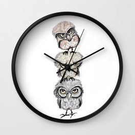 Owl Totæm Wall Clock