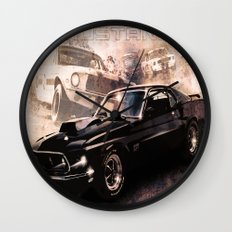 Ford Mustang Boss 557 Wall Clock