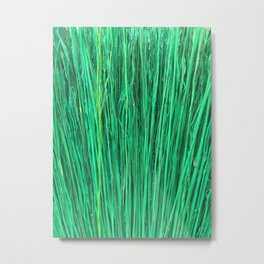Green Brushwood Photography Metal Print