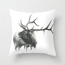 Bugle of an Elk Throw Pillow