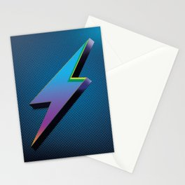 Multicolor 3-d lighting rod Stationery Cards