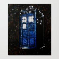 8 Bit Pixelated Tardis Doctor Who Canvas Print
