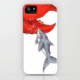 Great White Lobstah Lovah iPhone Case