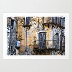 Urban Sicilian Facade Art Print
