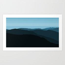 Blue Mountainscape Art Print