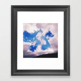 Three-Sided Sky Framed Art Print
