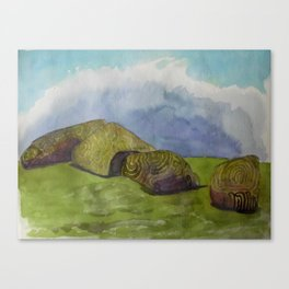 An Afternoon near the Carved Stones Canvas Print