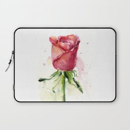 Rose Watercolor Red Flower Painting Floral Flowers Laptop Sleeve