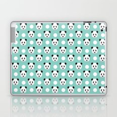 Panda polka dots pattern print minimal trendy kids design pillow cell phone cute panda cub character Laptop & iPad Skin