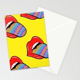 Lip popart pattern 2 Stationery Cards