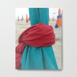 Parasols in Deauville, France (2008a) Metal Print