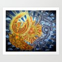 Chinese Phoenix and Dragon Mandala by psychedeliczen