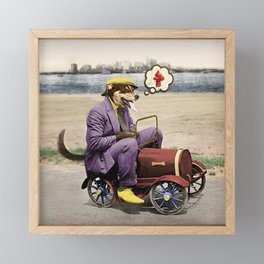 Barkin' Down the Highway! Framed Mini Art Print