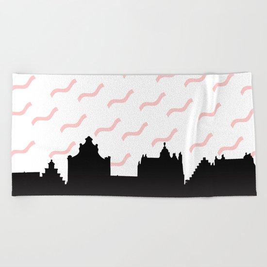 Cityline Design Beach Towel