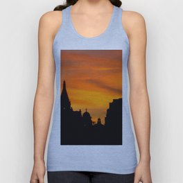 London Sunset in sillouette bywhacky Unisex Tank Top