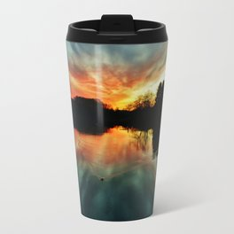 Magical evening at the lake Metal Travel Mug
