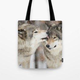 Wolf Kisses Tote Bag