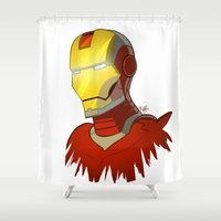 ironman Shower Curtains featuring Ironman  by Ryan James Art