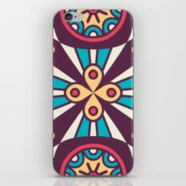 Purple Star Mosaic Boho Pattern iPhone Skin