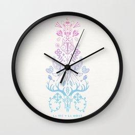 La Vie + La Mort: Rose Quartz & Serenity Ombré Wall Clock