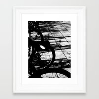 bikes Framed Art Prints featuring bikes by meme grant