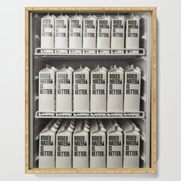 Boxed Water Serving Tray