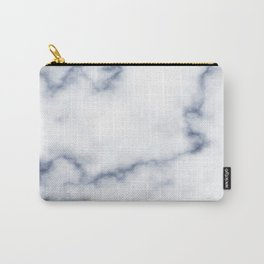 Marble White & Blue Carry-All Pouch