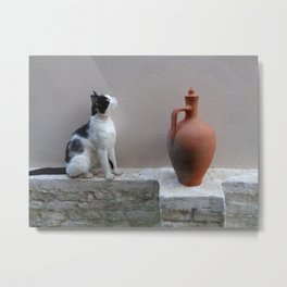 Meditations on a Clay Jug 3 Metal Print