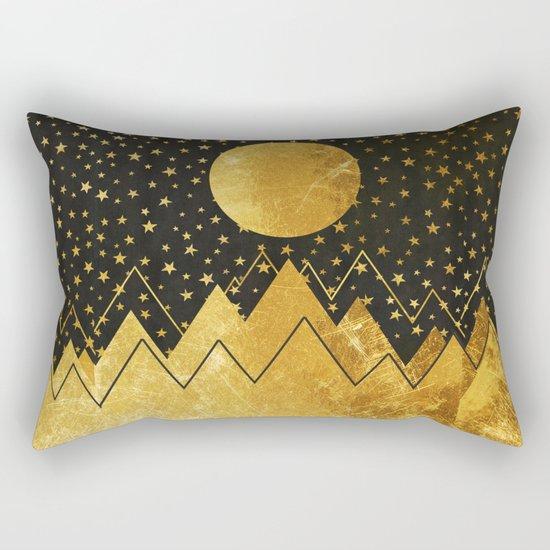 Golden Landscape Rectangular Pillow