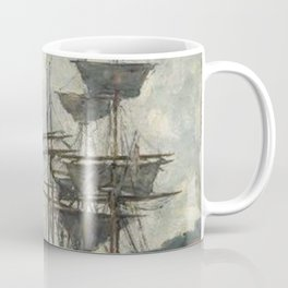 Ships at Le Havre - Eugene Boudin Coffee Mug