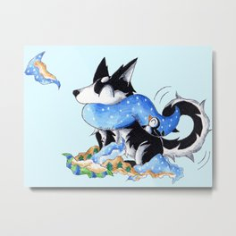 Wrapping Paper Pup Metal Print