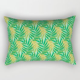 Tropical Palm Leaves Seamless Pattern Rectangular Pillow