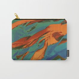 Green, Orange and Blue Abstract Carry-All Pouch