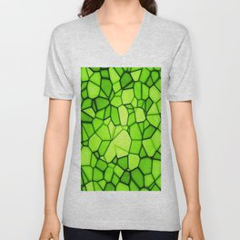 abstract squares triangle polygon Unisex V-Neck